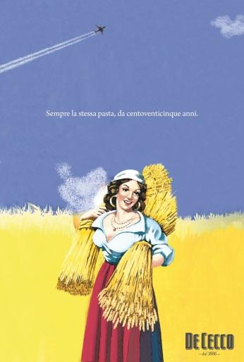 """De Cecco, campagna di celebrazione dei 125 anni, """"Centoventicinque"""". Headline """"Always the same pasta, for 125 years"""". CW Beatrice Furlotti, AD Maddalena Giavarini."""